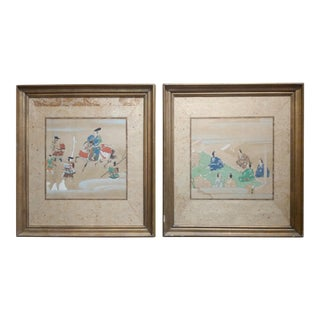 Chinese Antique Paintings on Paper - a pair