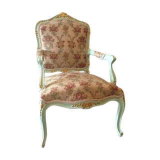 Louis XVI Green Italian Side Chair