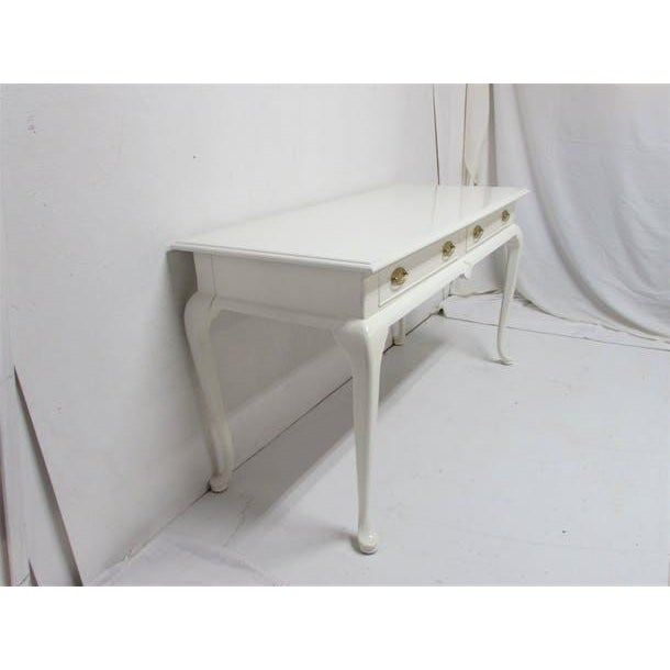 Drexel Lacquered 2-Drawer Desk - Image 6 of 7