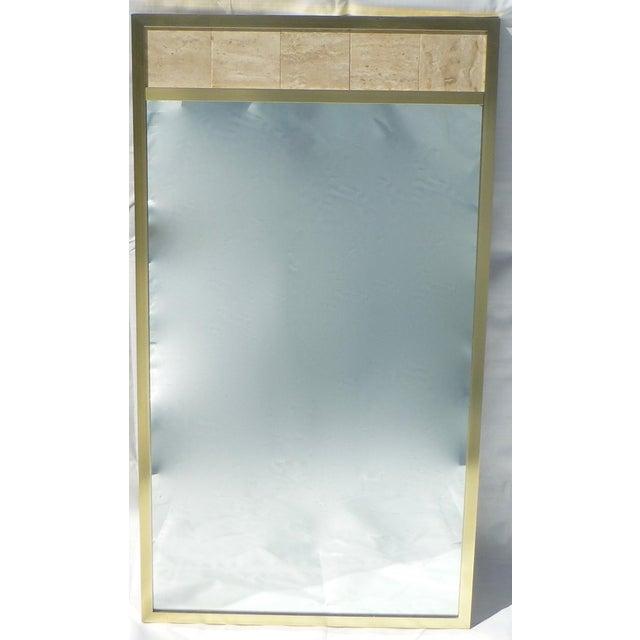 Post Modernist 1980's Travertine Mirror - Image 2 of 11