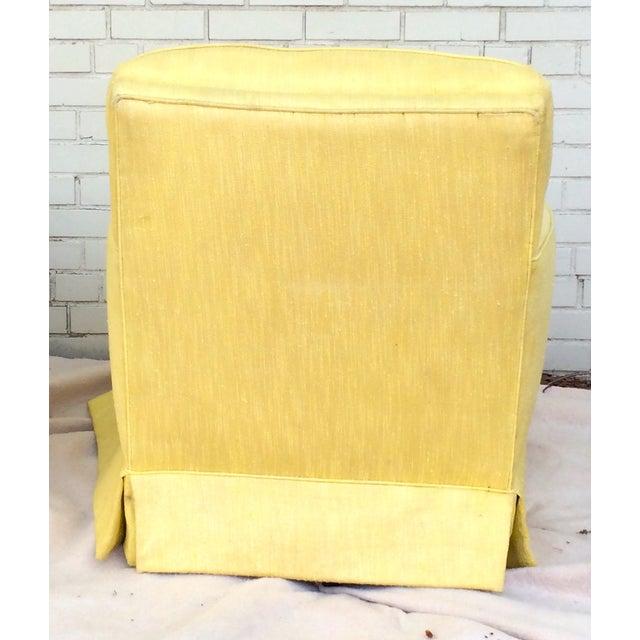 1960s Yellow Swivel Club Chairs - Image 5 of 10