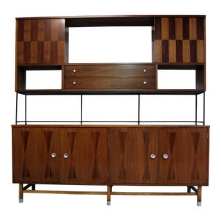 Stanley Furniture Mid Century Modern Credenza Hutch Wall Unit