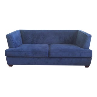 Bassett Furniture Navy Sofa