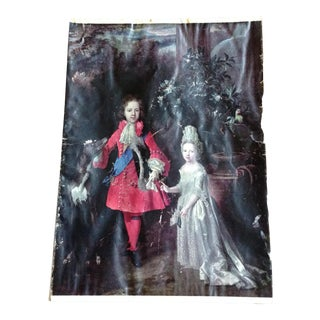 French Aristocratic Couple 18 Th Century Style