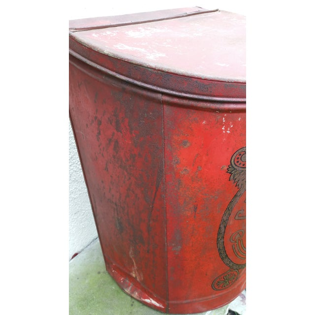 19th Century French Cafe Tin Hamper - Image 6 of 8
