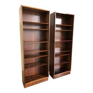 Mid-Century Poul Hundevad Danish Modern Rosewood Bookcases Tall Vintage - Pair