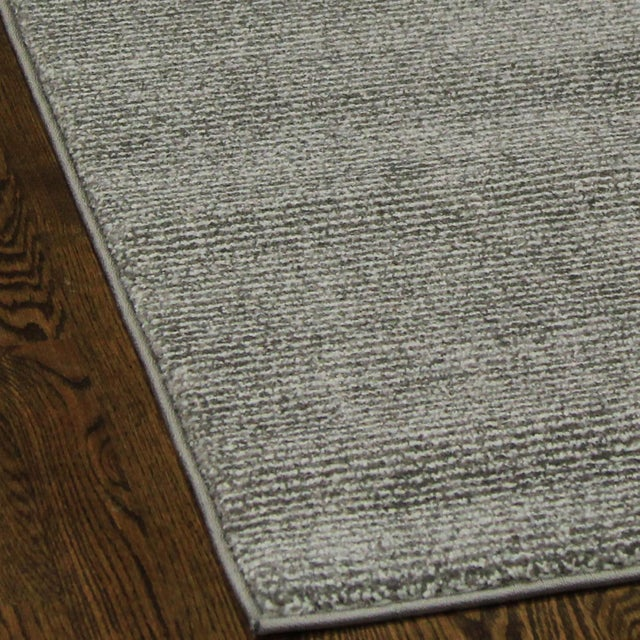 Contemporary Gray & White Striped Rug - 2'8'' x 10' - Image 3 of 6