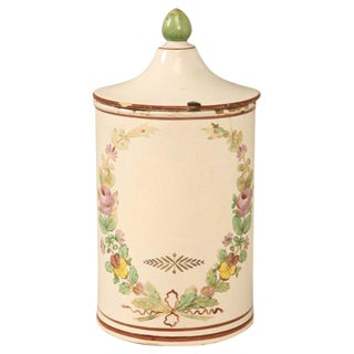 Hand-Painted French Apothecary Jar