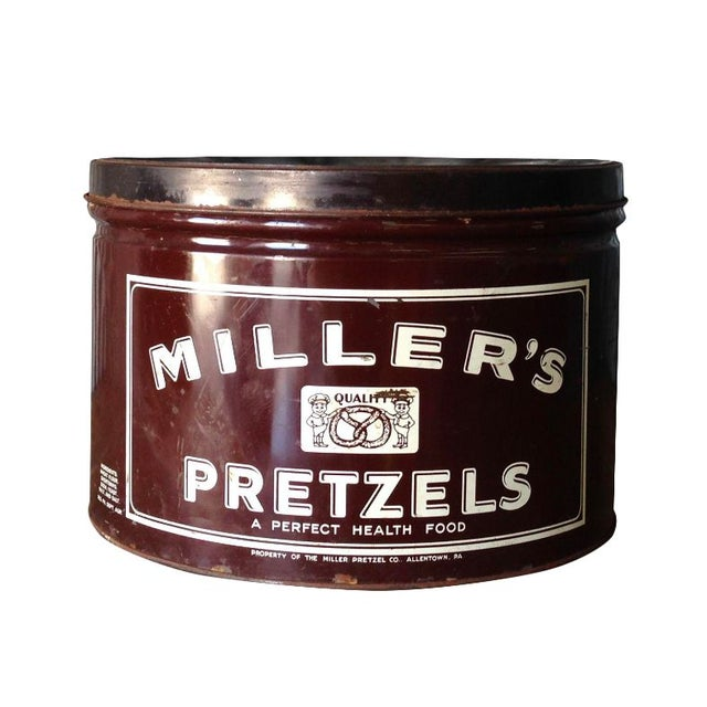 Vintage Millers Pretzels Container - Image 1 of 7