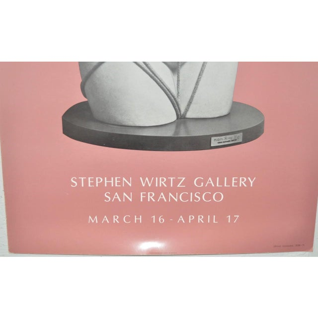 Image of Circa 1971 Stephen Wirtz Gallery Man Ray Exhibition Poster
