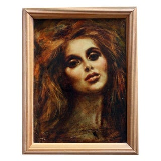 Stanley Brooks Oil Painting Auburn Haired Woman
