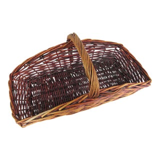 Vintage Wicker Garden Basket