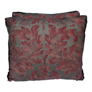 Rust Gold Fortuny Pillows - A Pair