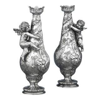 Silvered Bronze Vases