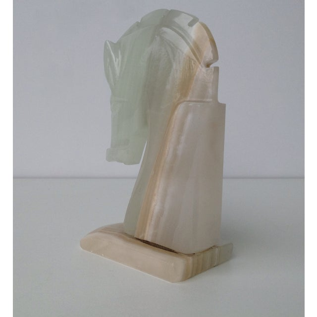 Vintage Onyx Trojan Horse Bookend - Image 9 of 9