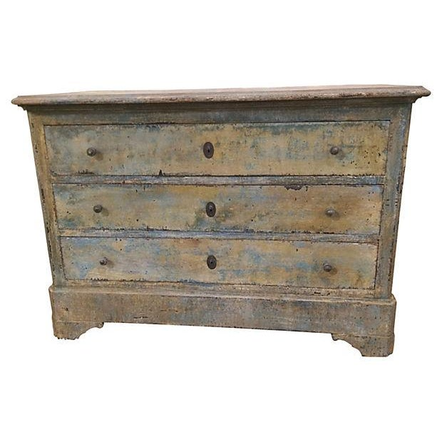 french shabby chic painted commode chairish. Black Bedroom Furniture Sets. Home Design Ideas