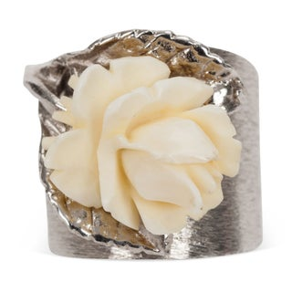 Napier Sterling Silver Rose Ring - Size 6
