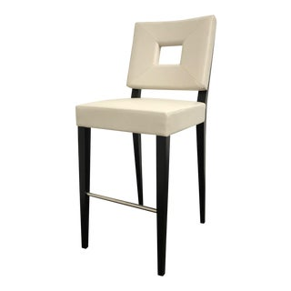 RJones Leather Shadow Box Barstool