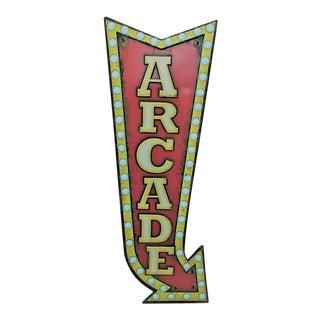 Metal Arcade Advertising Sign