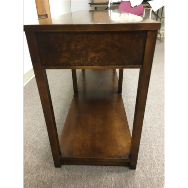 Image of Vintage Wood and Chrome Console/Sofa Table