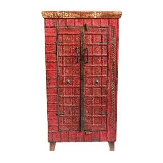 Vintage Red Metal Work Cabinet