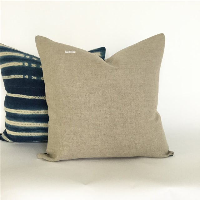Vintage African Indigo Pillows - A Pair - Image 3 of 4