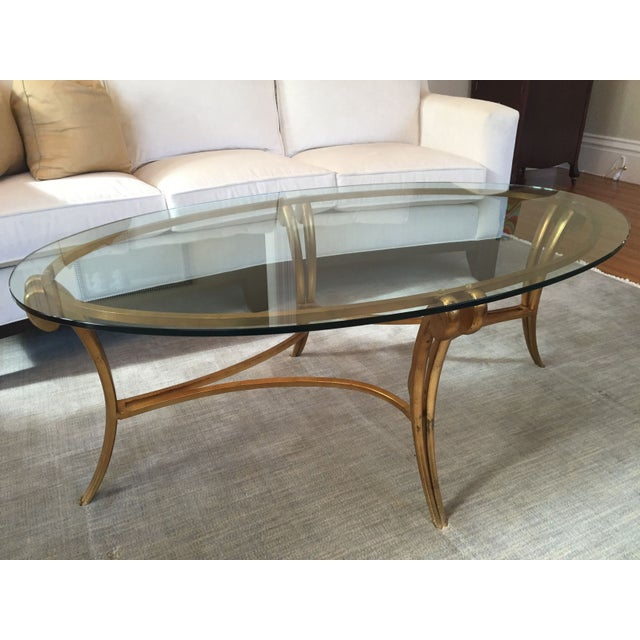 Image Of Barbara Barry Glass Metal Coffee Table