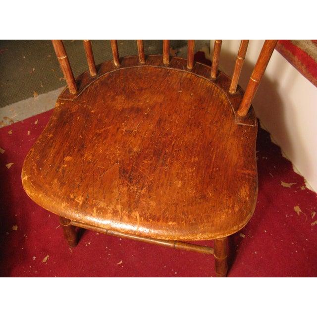 Antique Signed Samuel Gragg Windsor Chair - Image 11 of 11