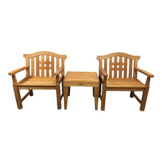 Smith & Hawken Teak Lawn Chair & Table Set
