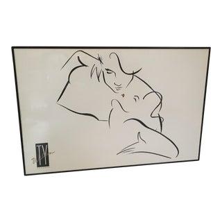 "Ty Wilson ""The Kiss"" Framed Print"