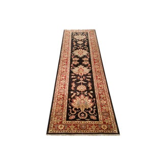 Traditional 10 Ft. Handmade Knotted Runner Rug - 2′11″ × 10