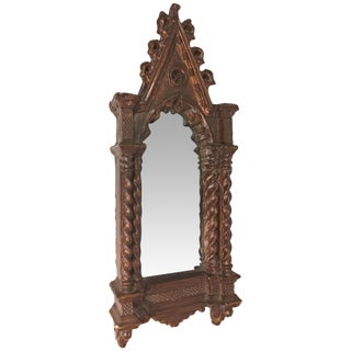 Antique Gothic Cathedral Style Wall Mirror