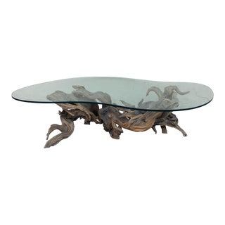 Driftwood Base Coffee Table