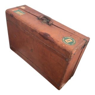 Trunk - Vintage Leather Travel Trunk Luggage
