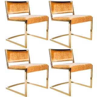 Bradley Gold Chrome Dining Chairs - Set of 4