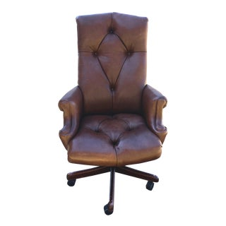 Cabot Wrenn Chambers Chesterfield Leather Executive Chair