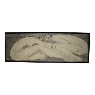 Black & White Figurative Expressionist Painting