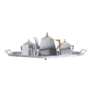 Bauhaus Style Art Deco Silver Tea Service