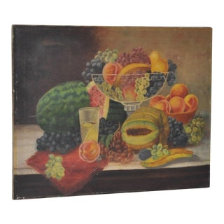 Late 19th Century Fruit Still Life Oil Painting