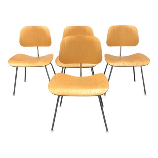 Herman Miller Eames Molded Plywood Dining Chairs - Set of 4