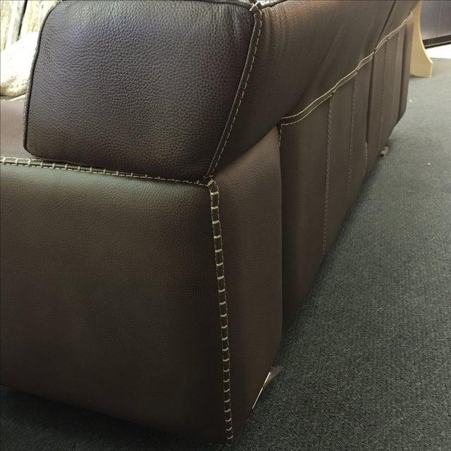 Roche Bobois Urban Leather Loveseat - Image 6 of 10