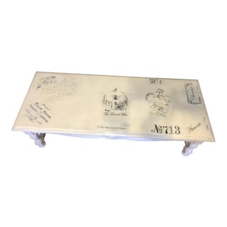 Distressed French Postmark Coffee Table
