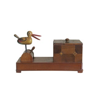 Vintage Folk Art Animated Bird Cigarette Box