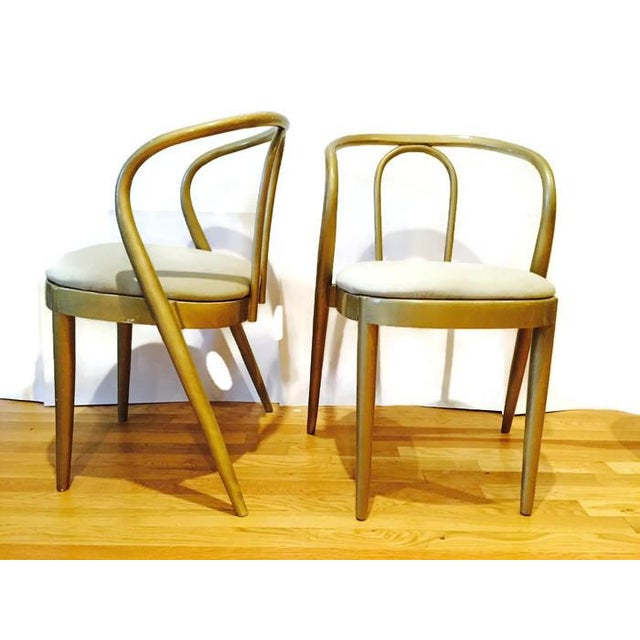Vintage Modern Bentwood Dining Chairs - Set of 5 - Image 5 of 11