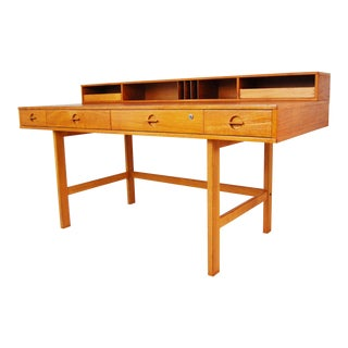 Peter Lovig-Nielsen Danish Modern Flip Top Teak Desk