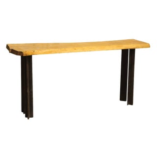 Light Wood Live Edge Table