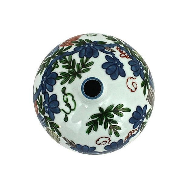 Asian Hand-Painted Orb Bud Vase - Image 7 of 7