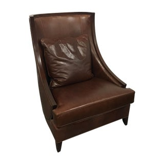 Leathercraft Snake Skin Imprint Leather Club Chair