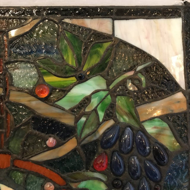 Tiffany Style Stained Glass Plaque - Image 4 of 7