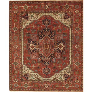 """Pasargad N Y Serapi Indian Hand-Knotted Rug - 8'1"""" X 10'"""
